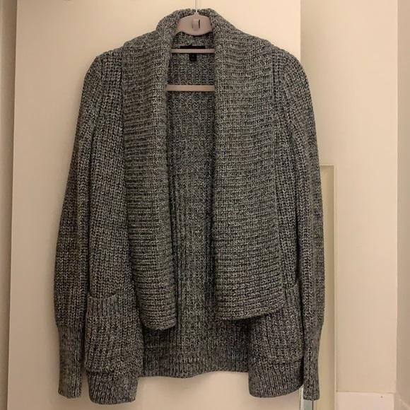 Jcrew Gray Shawl Collar Open Sweater Cardigan - S